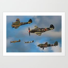 Vintage Aircraft Art Print