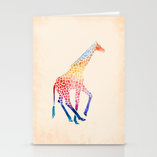 Watercolor Giraffe Stationery Cards