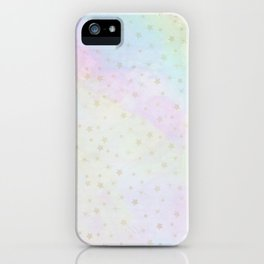 Holographic stars iPhone Case