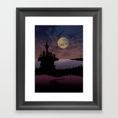 Halloween castle Framed Art Print
