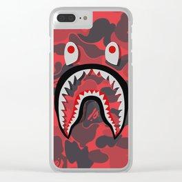 bape camo shark Clear iPhone Case