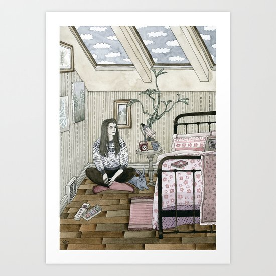 Girls bedroom Art Print