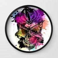 kindle Wall Clocks featuring 128@AllSkull™ by ALLSKULL.NET