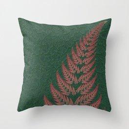 Fall Fern Fractal Throw Pillow