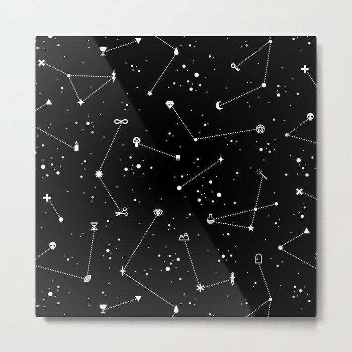 Constellations (Black) Metal Print