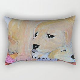 Labrador puppies Rectangular Pillow