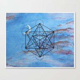 Metatron's Cube at Sunset Canvas Print