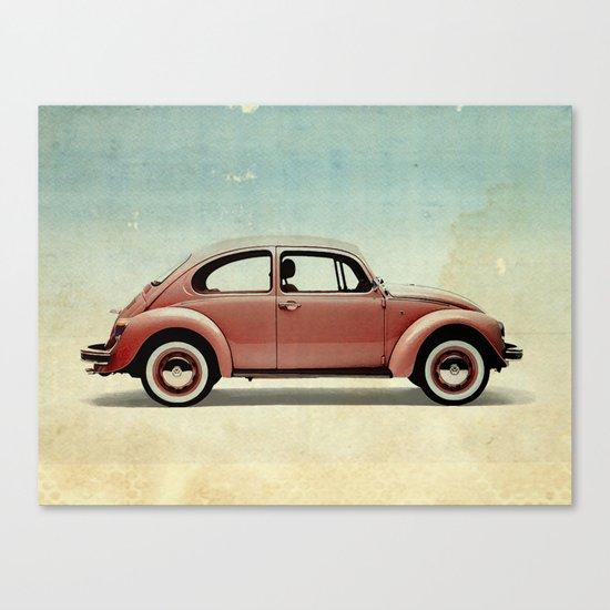 red vintage car Canvas Print