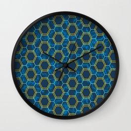 Honeycomb Pattern Wall Clock