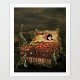Something Under the Bed Art Print