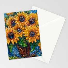 Sunflower Love by OLena Art Stationery Cards