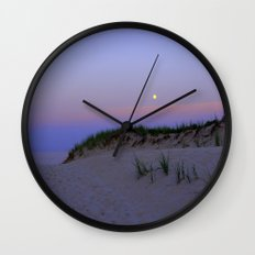 Nighttime at the Beach Wall Clock