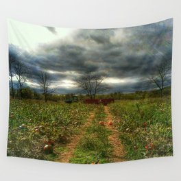 the pumpkin patch Wall Tapestry