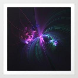 Fireworks Fractal Art Print