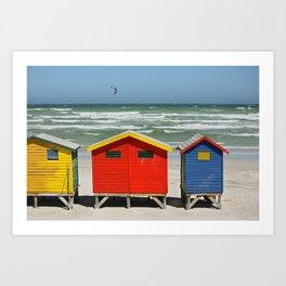 southafrica ... muizenberg beach huts I Art Print