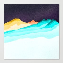 Three Sisters Mountains Canvas Print