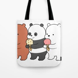 Baby Bears Eating Some Ice Cream Tote Bag