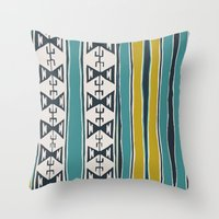 cleveland Throw Pillows featuring Cleveland 5 by Little Brave Heart Shop