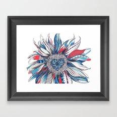 Flower Patterns on White Framed Art Print