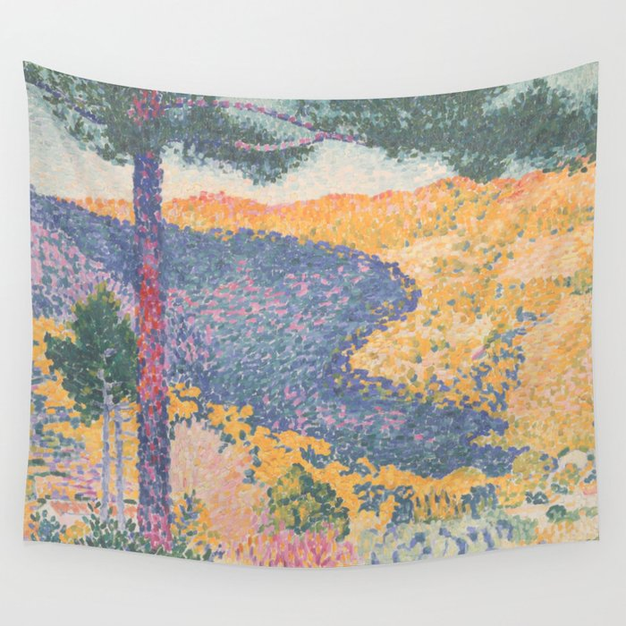 Valley with Fir (Shade on the Mountain) by Henri-Edmond Cross1909, French Wall Tapestry