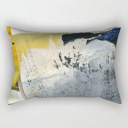 Mellow Yellow Texture Collage Rectangular Pillow