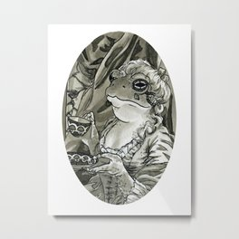 Toad Tea-time Metal Print
