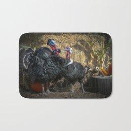 Thanksgiving Turkey Pilgrims Bath Mat