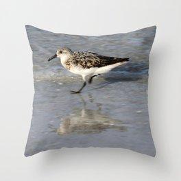 Running Bird Throw Pillow