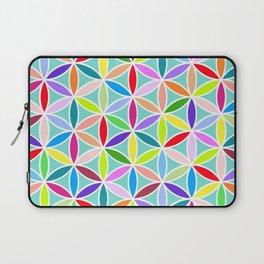 Flower of Life Large Pattern – Multicoloured Laptop Sleeve