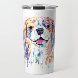 Cavalier King Charles Spaniel - Colorful Watercolor Painting Travel Mug