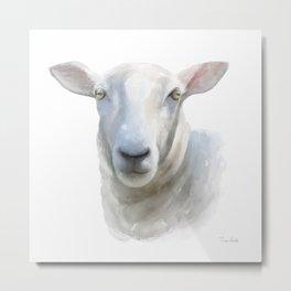 Watercolor Sheep Metal Print