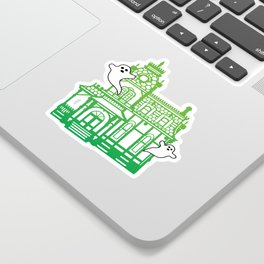 Haunted Victorian House Sticker