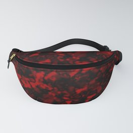 A gloomy cluster of red bodies on a dark background. Fanny Pack