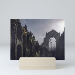 The Ruins of Holyrood Chapel by Louis Daguerre, 1824 Mini Art Print