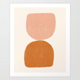 Terracotta Mid Century Modern Abstract Art Print