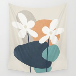 Abstract Flowers 3 Wall Tapestry