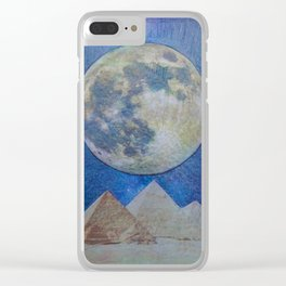 Moon Party Clear iPhone Case