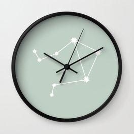 Libra Zodiac Constellation - Sage Wall Clock