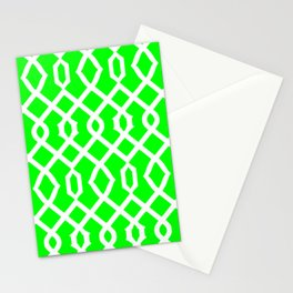 Grille No. 3 -- Lime Stationery Cards