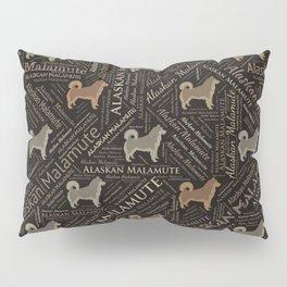 Alaskan Malamute dog Word Art Pillow Sham
