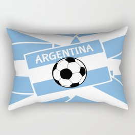 Argentina Football Rectangular Pillow