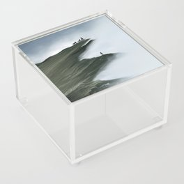 Foggy Landscape Digital Painting Acrylic Box