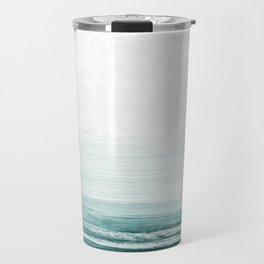 hazy emerald sea Travel Mug