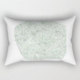 Milan Italy watercolor map Rectangular Pillow