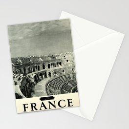 Retro Placard Nimes France Stationery Cards