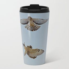 Short Eared Owl and Northern Harrier Travel Mug