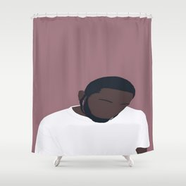 Kendrick Lamar Portrait Shower Curtain