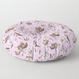 Cute Otters :) Floor Pillow
