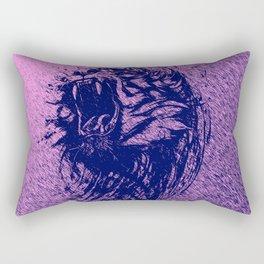 Tiger Purple Rectangular Pillow