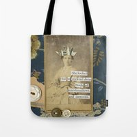 cartoons Tote Bags featuring marshmallows and cartoons by jotjoy